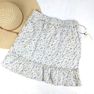 NEW Rachel Zoe Linen Ruffle Skirt